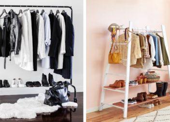 Rastrelliera di stile per i vestiti. 25 idee