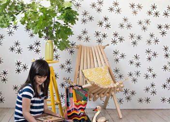 Come decorare le pareti in camera dei bambini. Master-class+disegno stencil