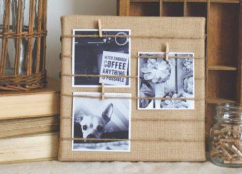 Cornice per le foto in eco stile fatta a mano