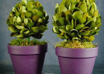 Topiary di primavera fatto a mano. Master-class