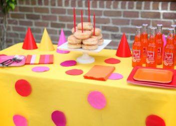 L'idea per allestire la tavola di compleanno dei bimbi. Foto