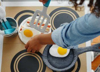 Cucina per bambini di feltro! Master-class. Foto