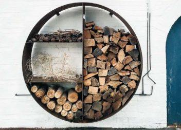 20 metodi creativi per conservare la legna per il camino