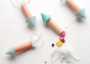 Idea della festa per bambini: razzo ripieno di dolci