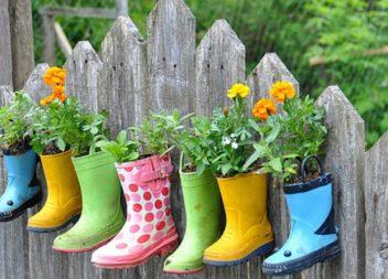 Vasi per fiori fatti da scarpe vecchie. 25 idee