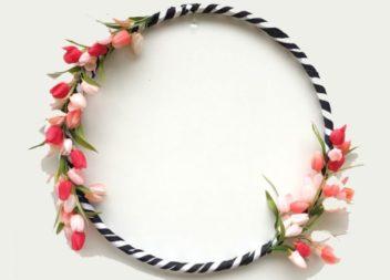 20 ghirlande decorative fatte da hula hoop