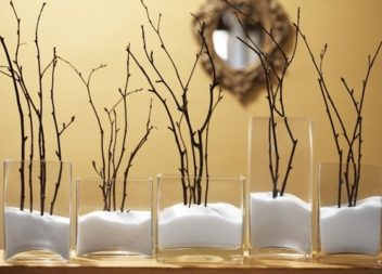Rami decorativi negli interni. 20 idee