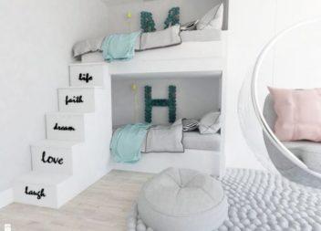 27 idee nell'interno della cameretta dei bambini con il letto a castello