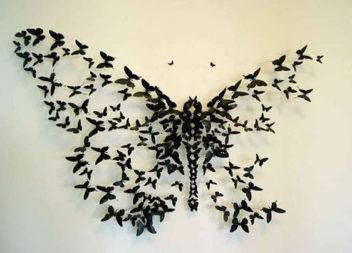 Farfalle di carta per decorare pareti. 20 idee
