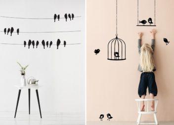 Uccellini sulle pareti. 30 idee per decorare il vostro interno