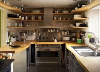 L'interno della cucina piccola. 35 idee