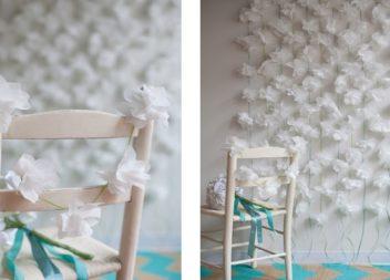 Decorazione con tovaglioli: la ghirlanda floreale fatta a mano