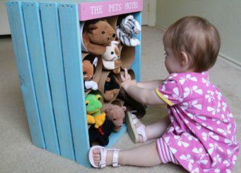 Organizer giocattoli fatto a mano!