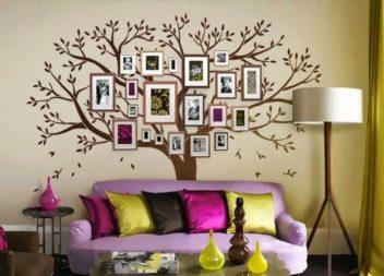 L'albero genealogico sulla parete. 15 idee