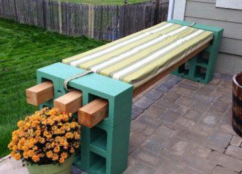 Blocchi di cemento come elementi decorativi giardino e cortile. 20 idee