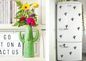 Decorazione con dei cactus: 24 idee per interni carini
