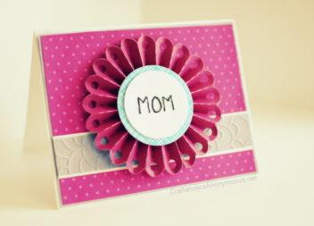 Cartolina fatta a mano per la festa della mamma