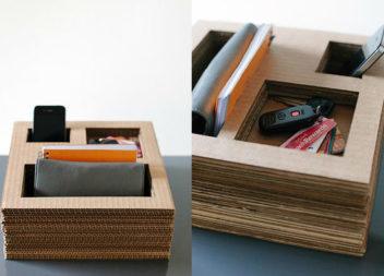 15 idee su come trasformare la scatola di cartone in delle cose utili