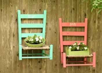 24 idee per riutilizzare le vecchie sedie