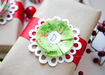Decorazione stampi di carta per cupcakes per le feste