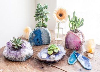 Idee su decorazione di pietre e cristalli: motivi naturali