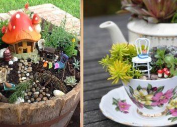 """""""Giardino delle fate"""" fatto a mano: 28 idee"""
