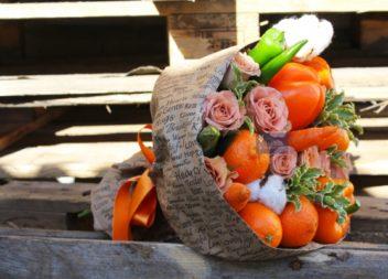 Idee su fiori di frutta e verdura- 20 idee per regalo