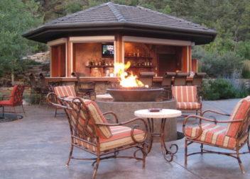 Organizzazione del fuoco in giardino: 16 idee
