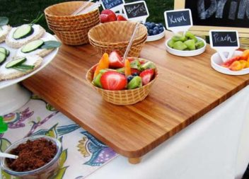 Idee su festa con frutta