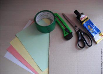Cornice decorata con la tecnica origami: master-class