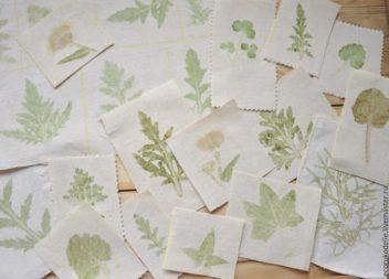 Idee su stampa piante su tessuto: master-class