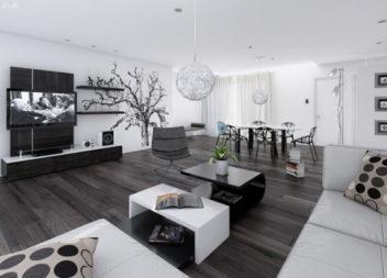 Interni minimal in bianco e nero: 24 esempi di stile