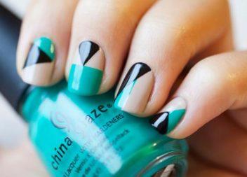 24 idee geometriche per manicure + master-class