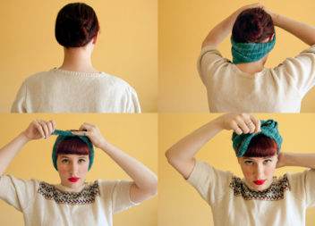 Fascia per capelli elegante: 10 master-class