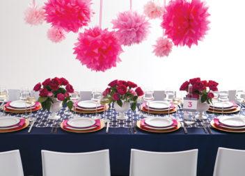 24 idee su decorazioni di festa rosa