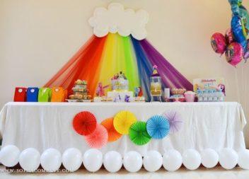 Idee su decorazioni compleanno arcobaleno
