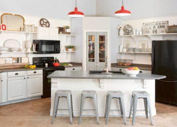 Idee su mensola a giorno: 40 idee per cucina