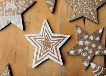 Decorazioni con le stelle di carta: 20 idee