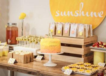 """Compleanno per bambini in stile """"Sole"""": decorazione e dettagli"""