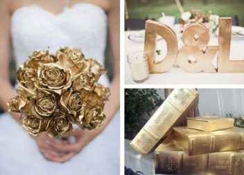 25 idee su vernice dorata per decorazioni