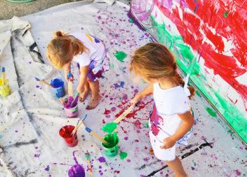 21 idee su creazione con bambini: dipinto originale