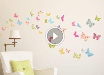 Farfalle colorate per decorazione della parete: video-lezione
