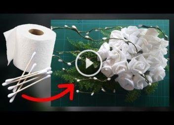 Fiori di carta igienica con le vostre mani: video-lezione