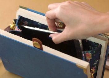 Borse frizioni fatte da libro: master-class
