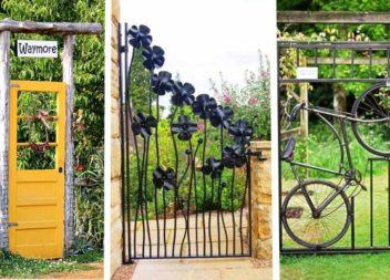 20 idee sorprendenti per porte e cancello nel cortile e il giardino