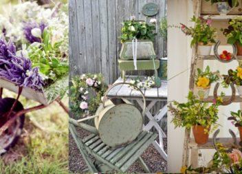 20 idee per ispirazione in stile vintage nel giardino