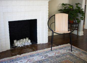 Sedia originale con strisce di pelle: master-class