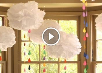 Nuvole volumetriche di carta fatte con le mani!