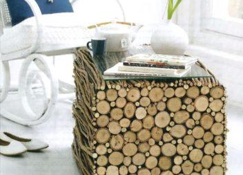 Decorazione con i tronchi dell'albero: 18 modi originali