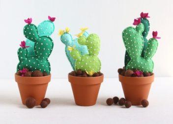 Pot giocattolo con il cactus per camera da bambini: master-class